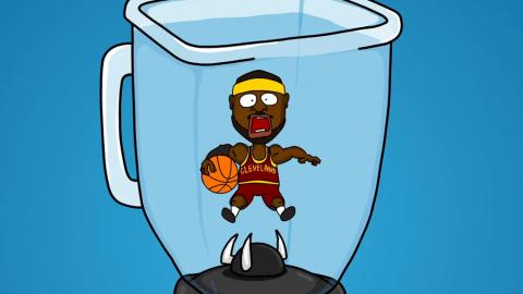 LeBron James in a Blender - Joe Cartoon